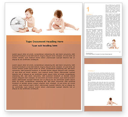 Sweet Babies Word Template, 05642, Education & Training — PoweredTemplate.com