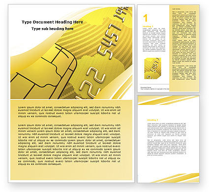 Financial/Accounting: Modello Word - Bank carta di credito #05643