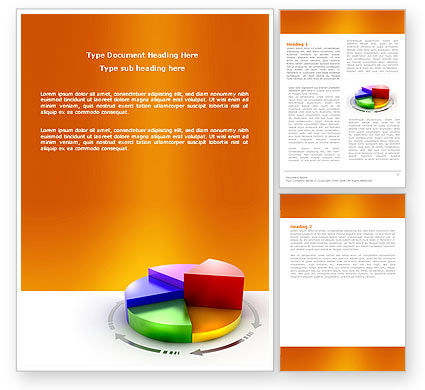 3D Pie Diagram Word Template, 05649, Consulting — PoweredTemplate.com