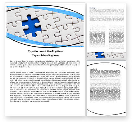 Blue Conundrum Word Template, 05650, Consulting — PoweredTemplate.com