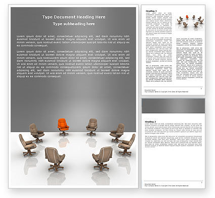 Committee Of Directors Word Template, 05658, Business — PoweredTemplate.com