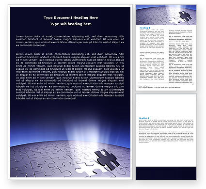 Consulting: Templat Word Blue Sphere Jigsaw #05661