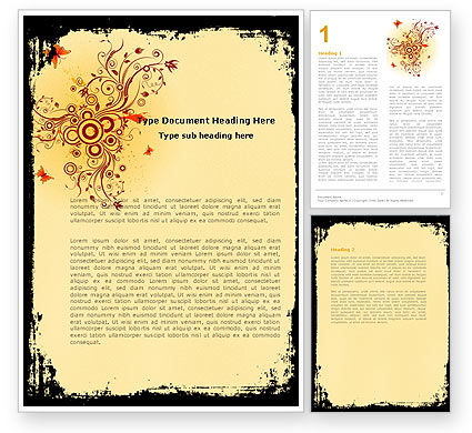 Abstract/Textures: Floral Keynote Word Template #05662