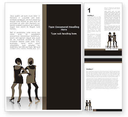 Fashion Models Word Template, 05665, Careers/Industry — PoweredTemplate.com