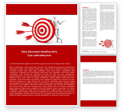 Reach Target Word Template, 05667, Consulting — PoweredTemplate.com