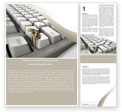 Business Concepts: Escape From Reality Word Template #05668