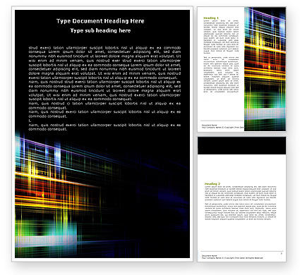 Abstract/Textures: Bright Lines Word Template #05669