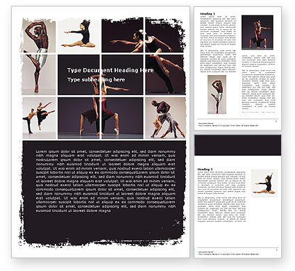 Art & Entertainment: Contemporary Dance Word Template #05671