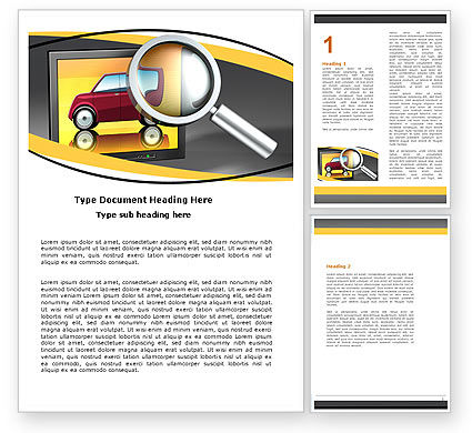 Careers/Industry: Auto Search Word Template #05673