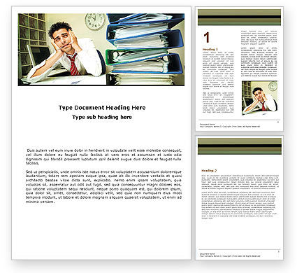 Work Pressure Word Template, 05676, Business — PoweredTemplate.com