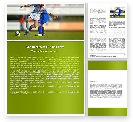 Football Match Word Template, 05681, Sports — PoweredTemplate.com