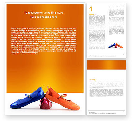 Slippers Word Template, 05682, Careers/Industry — PoweredTemplate.com