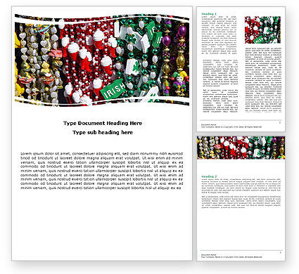 Free Irish Souvenirs Word Template, 05697, Holiday/Special Occasion — PoweredTemplate.com
