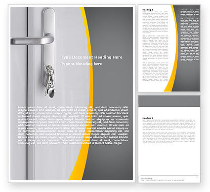 Door Keys Word Template, 05699, Careers/Industry — PoweredTemplate.com