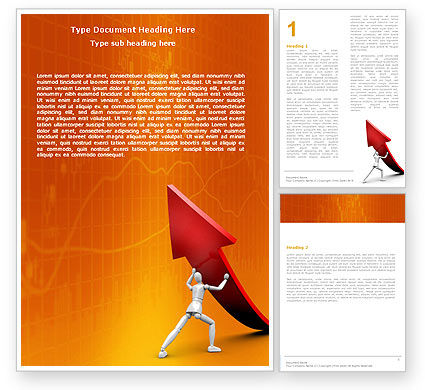 Forcing Improving Growth Word Template, 05700, Financial/Accounting — PoweredTemplate.com