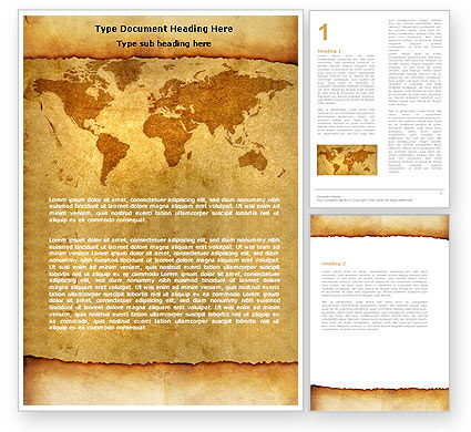 Global: Templat Word Dunia Lama #05704