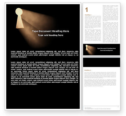 Business Concepts: Keyhole In The Dark Word Template #05707