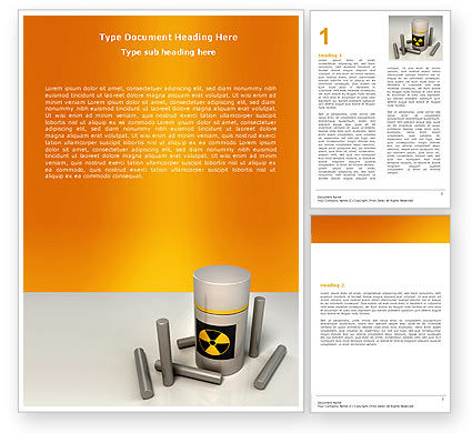 Military: Nuclear Fuel Word Template #05708