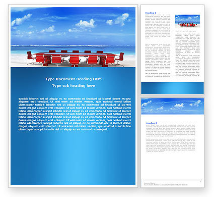 Conference Meeting Word Template, 05709, Business Concepts — PoweredTemplate.com
