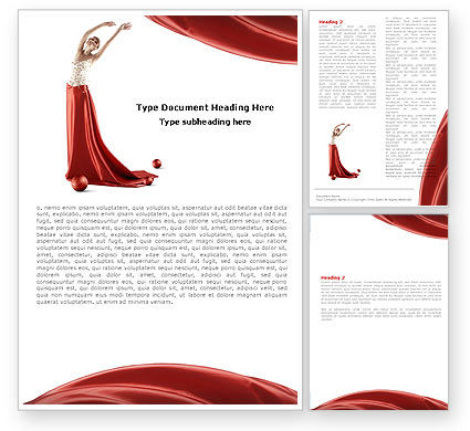 Art & Entertainment: Red Elegance Word Template #05711