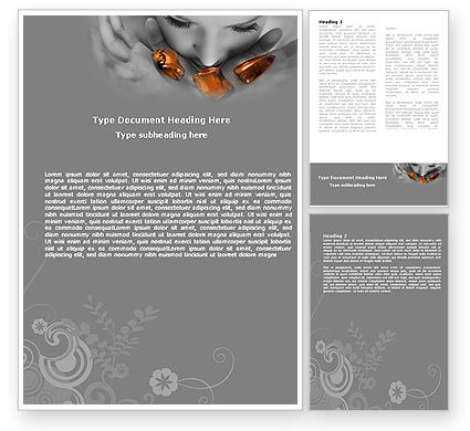 Beauty Salon Word Template, 05718, Careers/Industry — PoweredTemplate.com