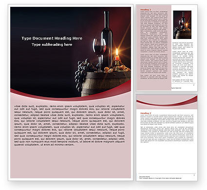 Wine Bottle Word Template, 05719, Food & Beverage — PoweredTemplate.com