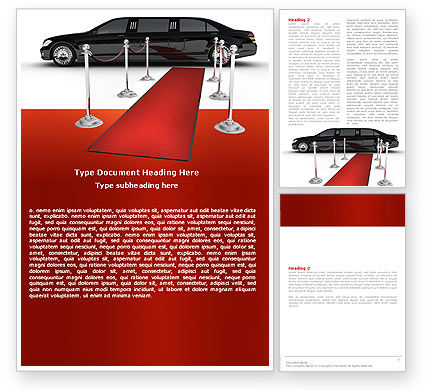 Art & Entertainment: Limousine Word Template #05720