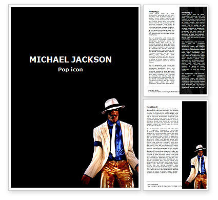 People: King of Pop Word Template #05724