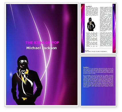 Art & Entertainment: Michael Jackson Word Template #05725