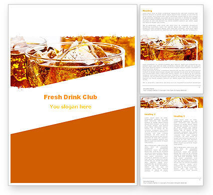 Food & Beverage: Soda With Ice Word Template #05726