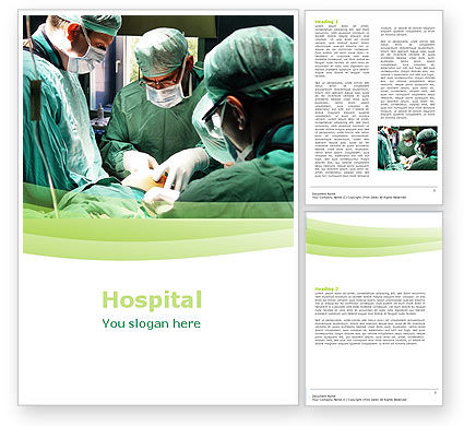 Anesthesia In Surgery Word Template, 05727, Medical — PoweredTemplate.com