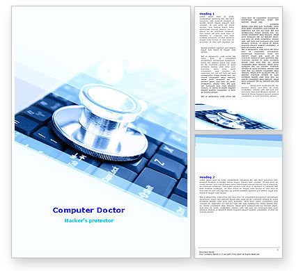 Medical Records In Electronic Form Word Template, 05733, Technology, Science & Computers — PoweredTemplate.com