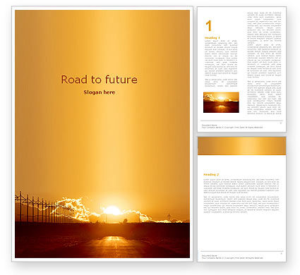 Business Concepts: Sunset Road Word Template #05735