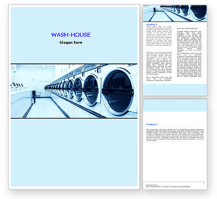 Laundry Word Template, 05737, Careers/Industry — PoweredTemplate.com