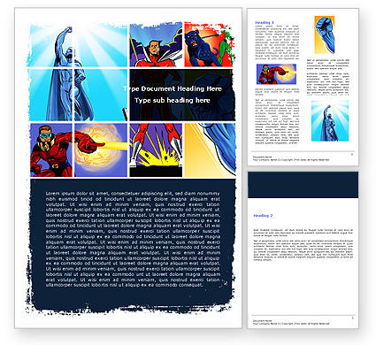 Art & Entertainment: Superheroes Word Template #05738