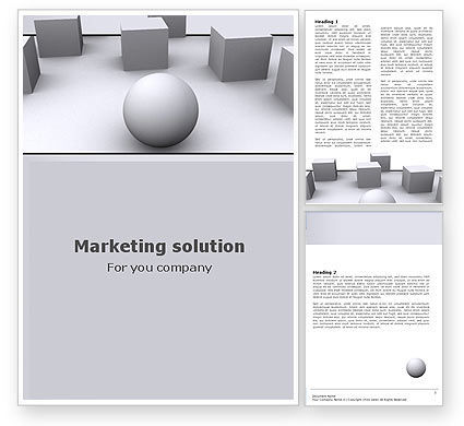 Be Various Word Template, 05739, Business Concepts — PoweredTemplate.com