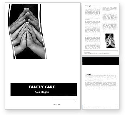 Family Harmony Word Template, 05745, Religious/Spiritual — PoweredTemplate.com