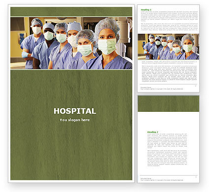Medical: Medical Personnel In Hospital Word Template #05749
