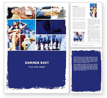 Medical: Relaxing Season Word Template #05751