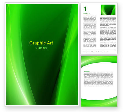 Abstract/Textures: Smaragdgroen Word Template #05753
