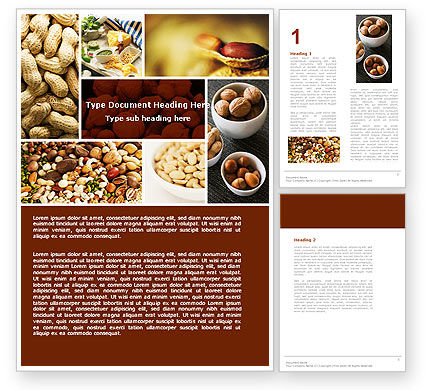 Nuts Word Template, 05759, Food & Beverage — PoweredTemplate.com