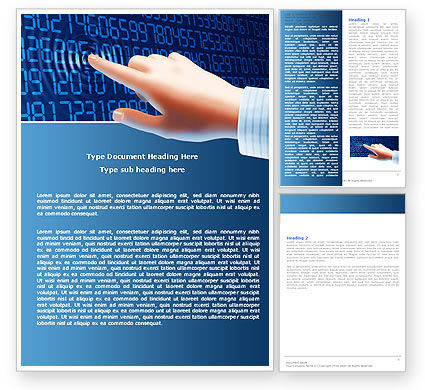 Digital Touch Word Template, 05760, Technology, Science & Computers — PoweredTemplate.com