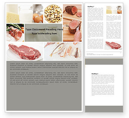 Food Protein Word Template, 05761, Careers/Industry — PoweredTemplate.com