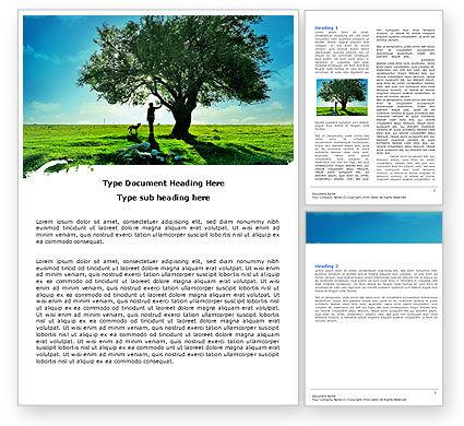 Nature & Environment: Walk Word Template #05764