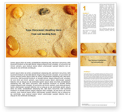 Beach Sand Word Template, 05765, Careers/Industry — PoweredTemplate.com