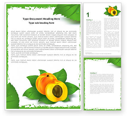 Peach Word Template, 05772, Food & Beverage — PoweredTemplate.com