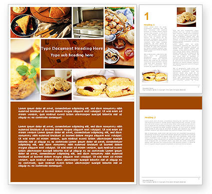 Pastry In Collage Word Template, 05775, Careers/Industry — PoweredTemplate.com
