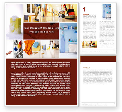 Housecleaning Word Template, 05780, Careers/Industry — PoweredTemplate.com