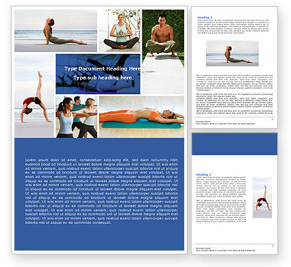 Yoga Word Template, 05782, Sports — PoweredTemplate.com