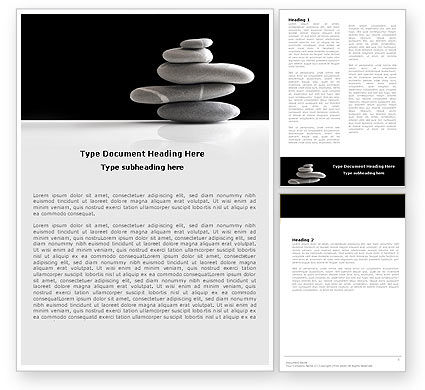 Business Concepts: Balanced Stones Word Template #05785